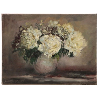 "Garncarek Aleksander Still Life Oil Painting ""Kwiaty"""