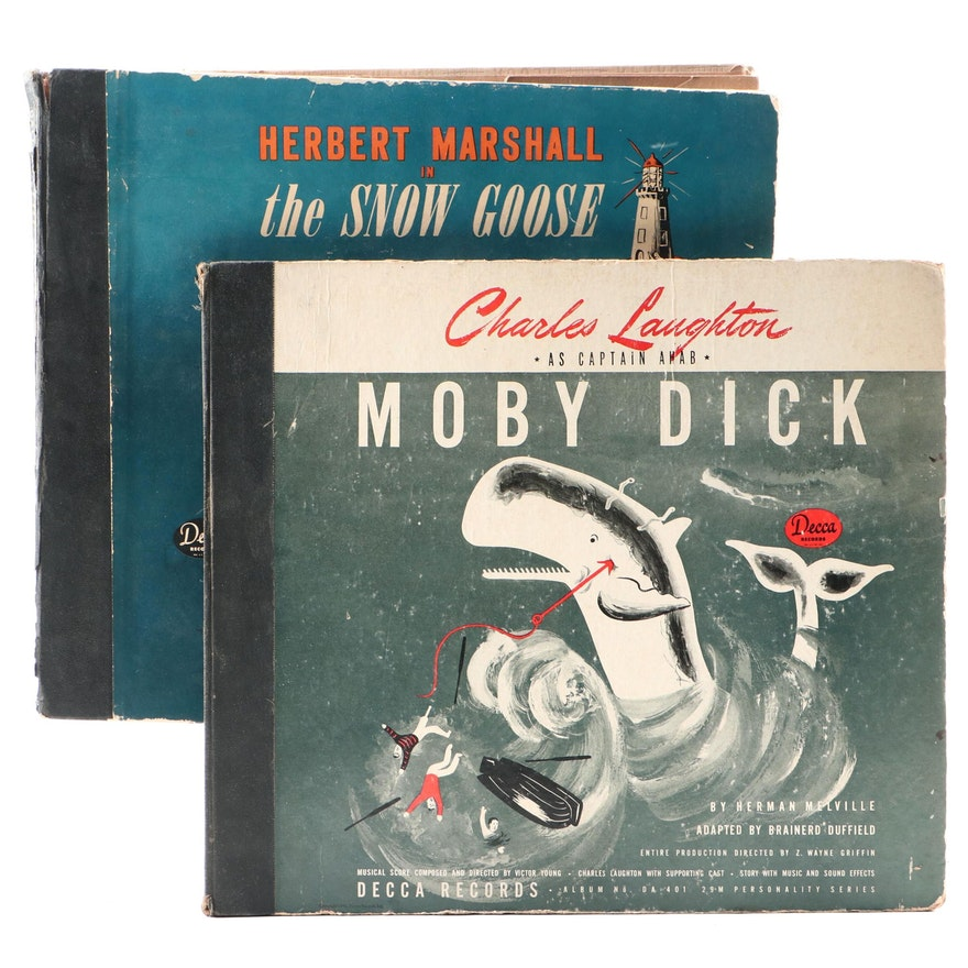 """Decca """"Moby Dick"""" and """"The Snow Goose"""" Vinyl Record Albums, 1940s"""