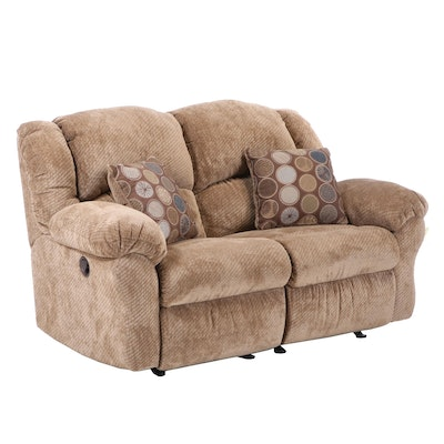 Franklin Corp. for Furniture Fair Upholstered Reclining Loveseat