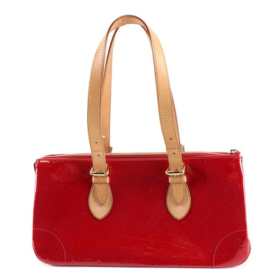 Louis Vuitton Rosewood Avenue Handbag in Vernis and Vachetta Leather