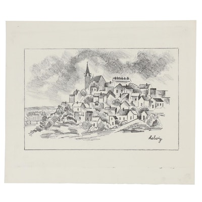"Arthur Helwig Lithograph ""Mt. Adams"""