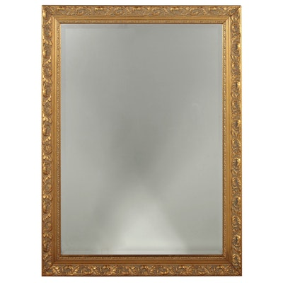 Carolina Mirror Company Foliate Giltwood Beveled Wall Mirror