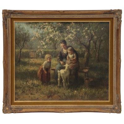 Cornelius Bouter Rural Genre Scene Oil Painting