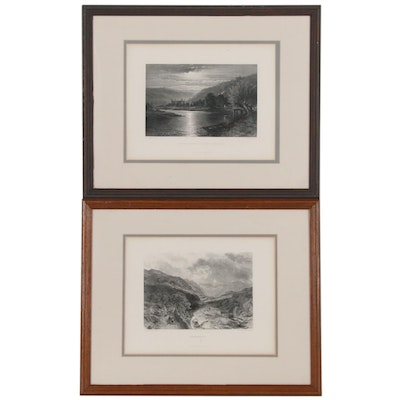 "Landscape Engravings Including After Samuel Bough ""Borrowdale"""