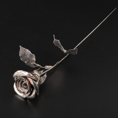 English Sterling Silver Rose, 1972