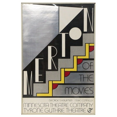 "Roy Lichtenstein Screen Print, ""Merton of the Movies"", 1968"