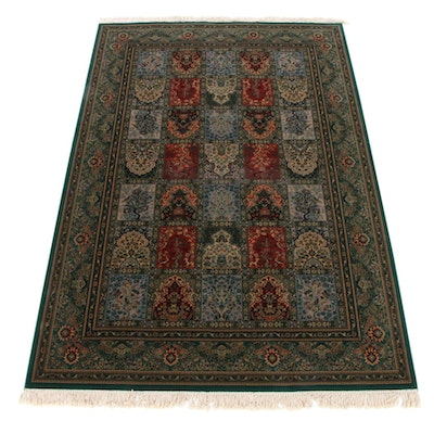 6'7 x 10'5 Power-Loomed European Persian Bakhtiari Pictorial Rug, 2000s