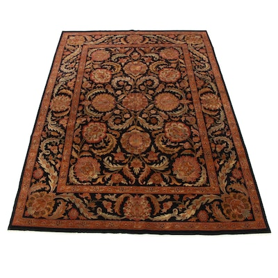 8'9 x 12'4 Hand-Knotted Indo-Persian Sultanabad Room Size Rug, 2000s