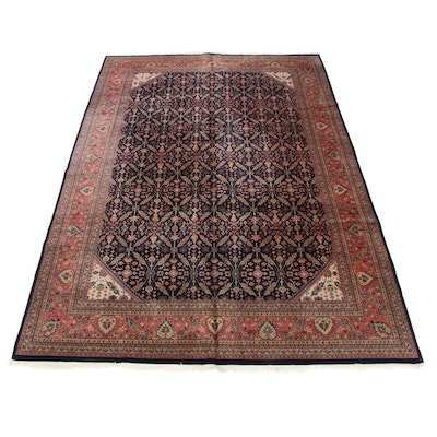 10'0 x 14'6 Hand-Knotted Indo-Persian Tabriz Room Size Rug, 2000s