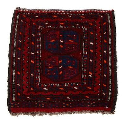 1'10 x 1'10 Hand-Knotted East Turkestan Turkoman Rug, 1920s