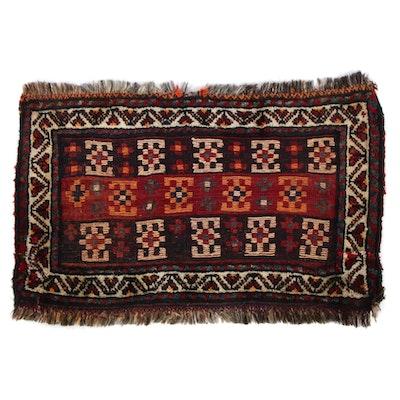 1'11 x 2'11 Hand-Knotted Persian Qashqai Shiraz Rug, 1950s