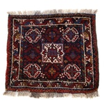 2'4 x 2'4 Hand-Knotted Persian Shiraz Rug, 1930s