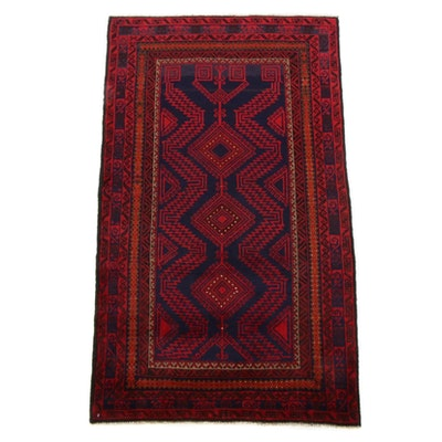 2'11 x 5'1 Hand-Knotted Persian Baluch Rug, 2000s