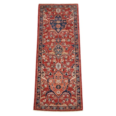 2'0 x 5'3 Hand-Knotted Afghan Persian Tabriz Runner, 2010s