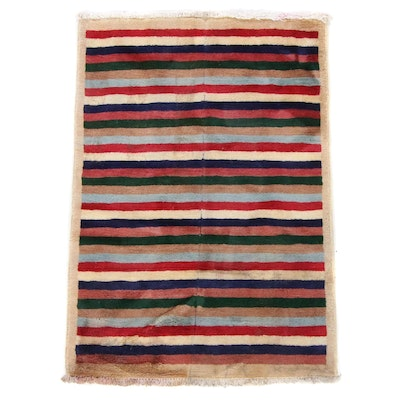 2'1 x 3'2 Hand-Knotted Pakistani Persian Gabbeh Rug, 2000s