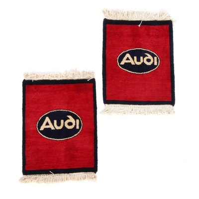 Hand-Knotted Indian Audi Car Matts, 2010s