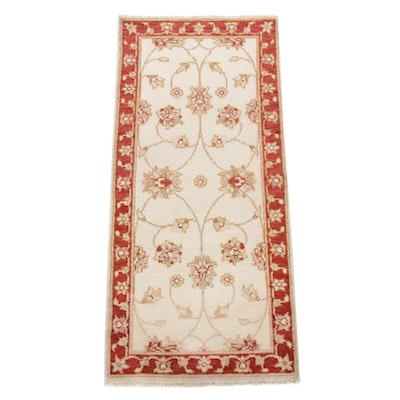 2'6 x 5'7 Hand-Knotted Indo-Turkish Oushak Runner, 2010s