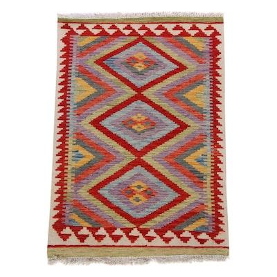 2'7 x 4'0 Handwoven Turkish Caucasian Kilim Rug, 2010s