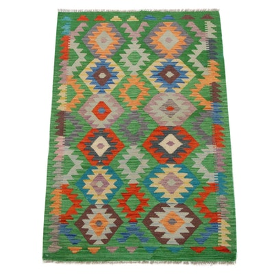 3'3 x 4'10 Hand-Knotted Turkish Caucasian Kilim Rug, 2010s