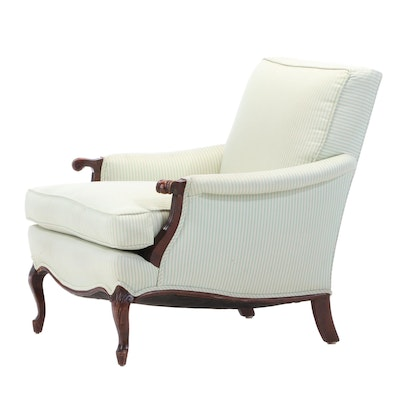 French Provincial Style Custom-Upholstered Lounge Chair
