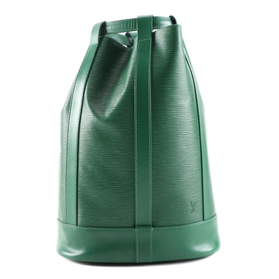 Louis Vuitton Borneo Green Epi Leather Randonnee PM Backpack