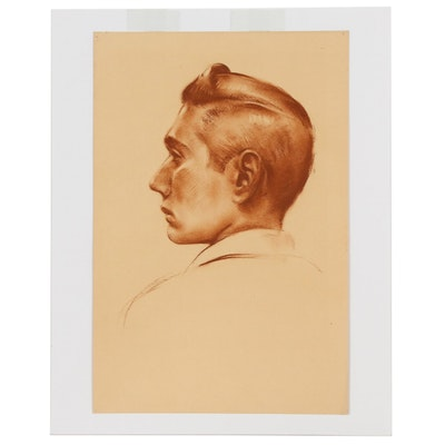 Robert Houston Whitmore Sanguine Portrait Drawings