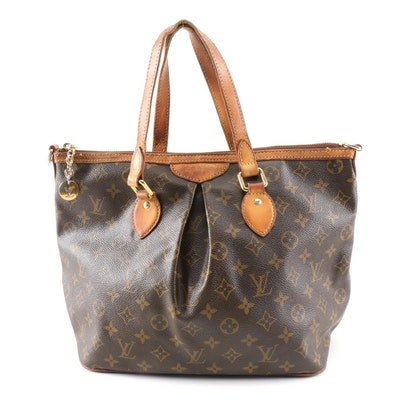 Louis Vuitton Siena Pleated Handbag in Monogram Canvas and Leather