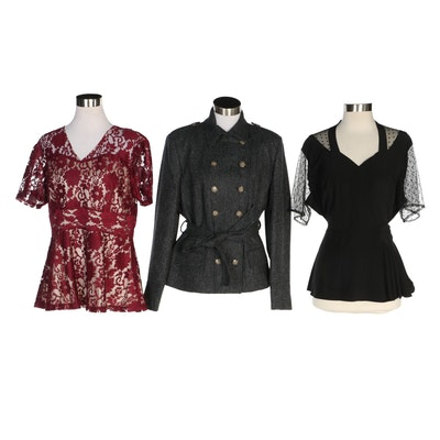J. Peterman Silk and Lace Blouses and English Wool Jacket