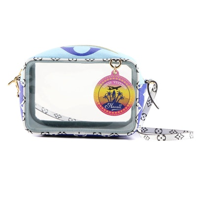 Louis Vuitton Blue Monogram Giant Portofino Beach Pouch
