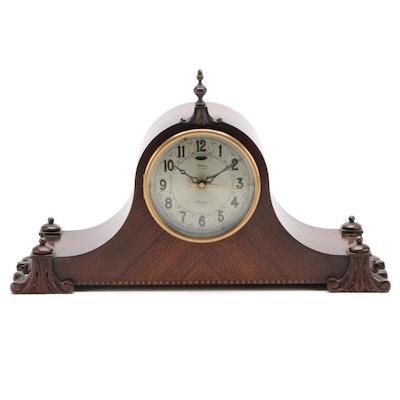 Revere Telechron Mahogany Tambour Mantel Clock, 1920s