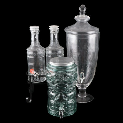 Fiddle & Fern Double Beverage Dispensers with Stand and More