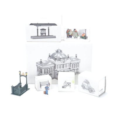 "Department 56 ""Victoria Station"" Building and Other Accessories"