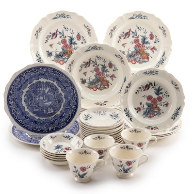 "Wedgwood ""Williamsburg Potpourri"" Queensware Dinnerware"