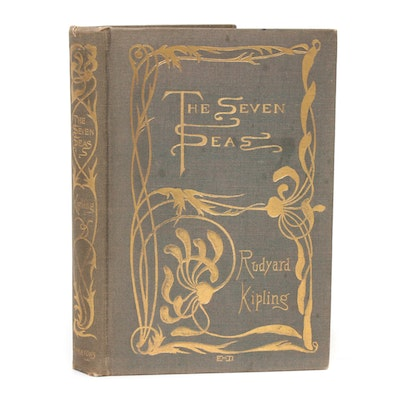 "First American Edition ""The Seven Seas"" by Rudyard Kipling, 1896"