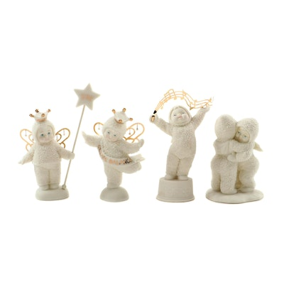 "Department 56 ""Snowbabies"" Porcelain Figurines, Late 20th/Early 21st Century"