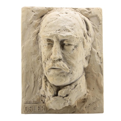 Doris Appel Molded Plaster Relief Portrait of Dr. William Osler