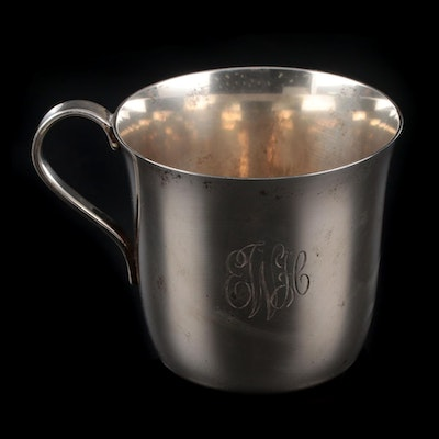 Tiffany & Co. Sterling Silver Baby Cup, Early 1940s