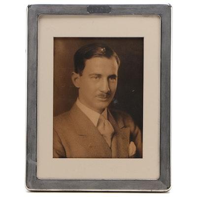 Silver Print Portrait Photograph in Gorham Sterling Frame