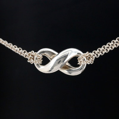 Tiffany & Co. Sterling Infinity Necklace