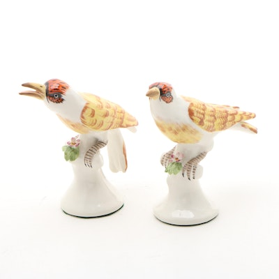 Chelsea House Porcelain Hand-Painted Bird Figurines, Mid-Late 20th Century