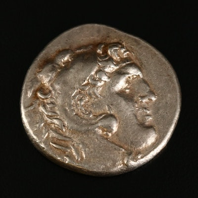 Ancient Macedonia AR Tetradrachm Coin of Alexander III, ca. 310 B.C.
