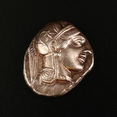 Ancient Greece Attica, Athens AR Tetradrachm Coin, ca. 450 B.C.