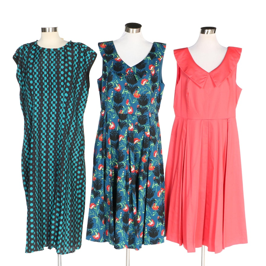 J. Peterman 1959 Party and Tate & Lucille Dresses with Original Tags