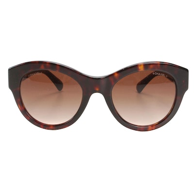 Chanel 5371-A Butterfly Sunglasses in Tortoise with Case