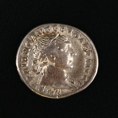 Ancient Roman Imperial AR Denarius of Trajan, ca. 103 A.D.