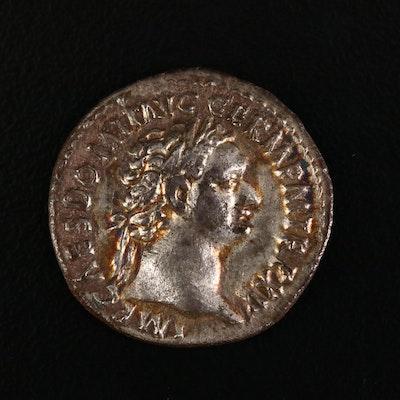 Ancient Roman Imperial AR Denarius of Domitian, ca. 95 A.D.