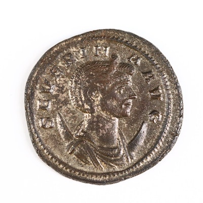 Ancient Roman Imperial AE Silvered Antoninianus of Severina, ca. 275 A.D.