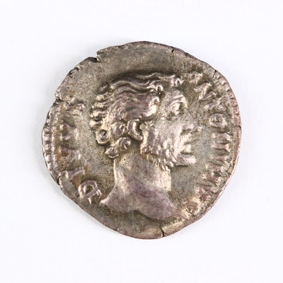 Ancient Roman Imperial AR Denarius of Divus Antoninus Pius, ca. 161 A.D.