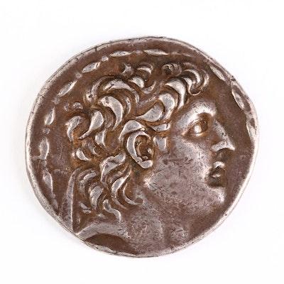 Ancient Seleucid Kingdom, AR Tetradrachm Coin of Antiochos VII, ca. 138 B.C.