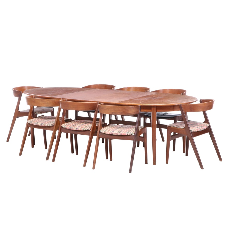 Nine-Piece Gudme Møbelfabrik Danish Modern Teak Dining Set